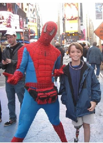 Ben and Spider Man Times Square Oct 2012