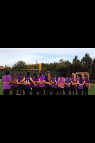 The CCHS softball team showing their support for Taylor by wearing purple! :o)