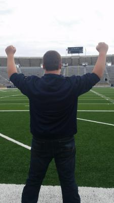 Andrew at Notre Dame Stadium. A picture is worth a thousand words!