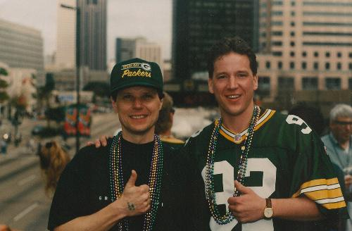 dad and uncle mike at the Super Bowl ...Packers won!