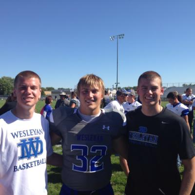 Cole, Jaden, and Chase at the DWU football game.