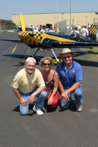 With our friend, Darrell Massman at the Phillips, WI airshow.