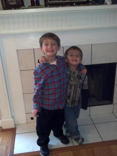 Jayden and his brother, his best friend!