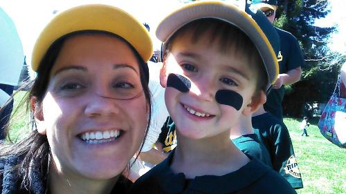 Jayden and Mommy at Tball!