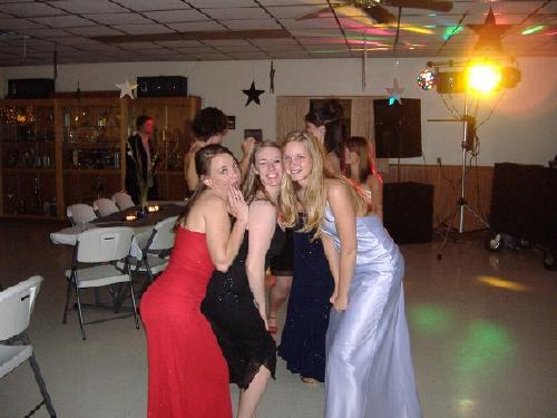 Erin, Emily (Foster) Kohl, and Geri (Dew) Hipple at Chi Omega Formal