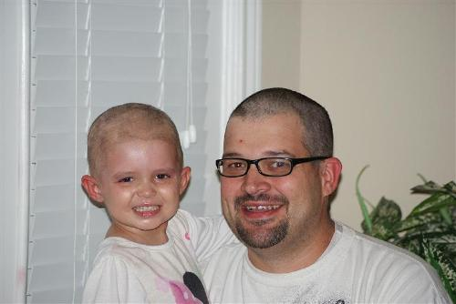 We traded haircuts...Daddy cut Hannah Grace's and Hannah Grace cut Daddy's!!!!