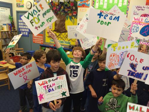 Sign Making Party for Kids Walk 2014