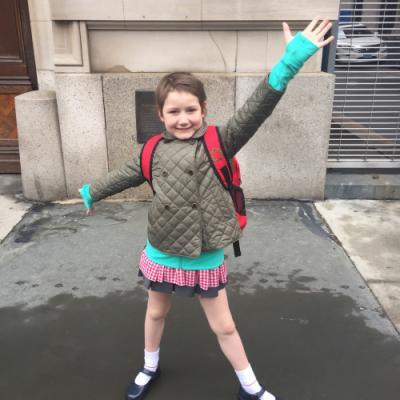 A happy Scarlett back at school!