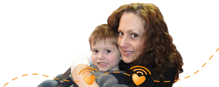 Ramsey and his mother - Battling acute lymphoblastic leukemia