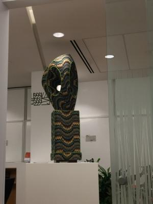 sculpture right outside me chemo door - stared at it for HOURS today