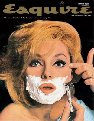 Legendary March 1965 Esquire cover, Virna Lisi photographed by George Lois. Kim Novak and Jayne Mansfield turned the shoot down.