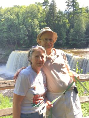 An old couple of lovebirds at Tahquamenon Falls, August 1st, 2016.