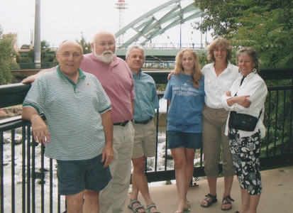 John, Ned, Dick, Zoe & Charlene (Ned's daughter & wife), Anita (Dick's wife)--Confluence Park in Denver, July 2005