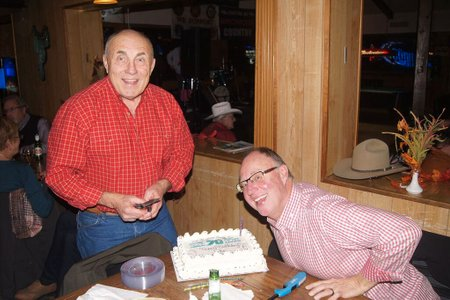 John's 70th Birthday Celebration, November 2015--at Lulu's in Watkins