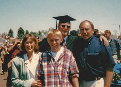 Neil's graduation from UNC--Cynthia, Ian, Neil, John--1997