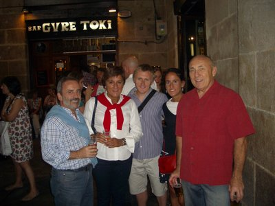 Bilbao, Spain--Jesus & Miryam (Ian's in-laws), Ian, Irantzu, John--September 2012