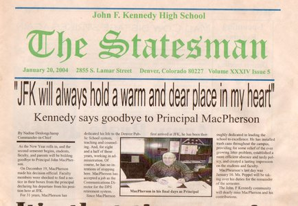 Kennedy High School Student Newspaper