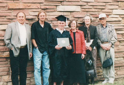 Ian's graduation from CU-Boulder--John, Neil, Ian, Cynthia, Cynthia's parents--2002