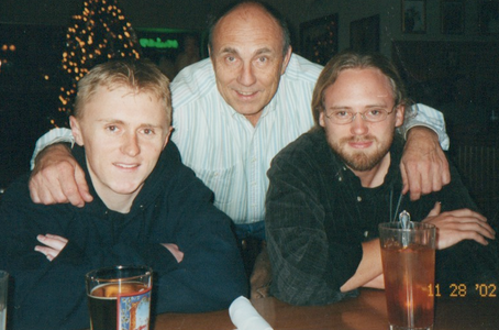 Ian, John, Neil--Bichelmeyer's Steak House in Tonganoxie, Kansas--Thanksgiving weekend, 2002