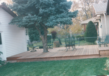 September 2001--we added a deck between the house and the garage