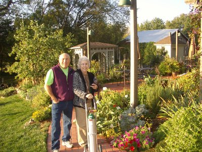 John & Juanita at the bed & breakfast in Rocheport, October 2013