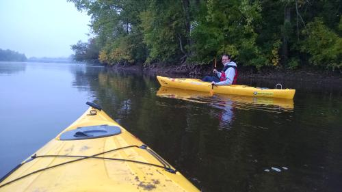 Kayaking with Jenny last week on the Mississippi using a new, exciting program called Paddle Share.