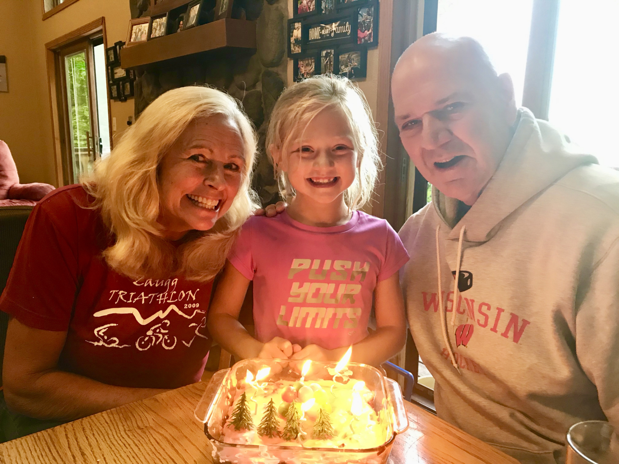 Clara celebrating her 7th bday at Nana and Papa's