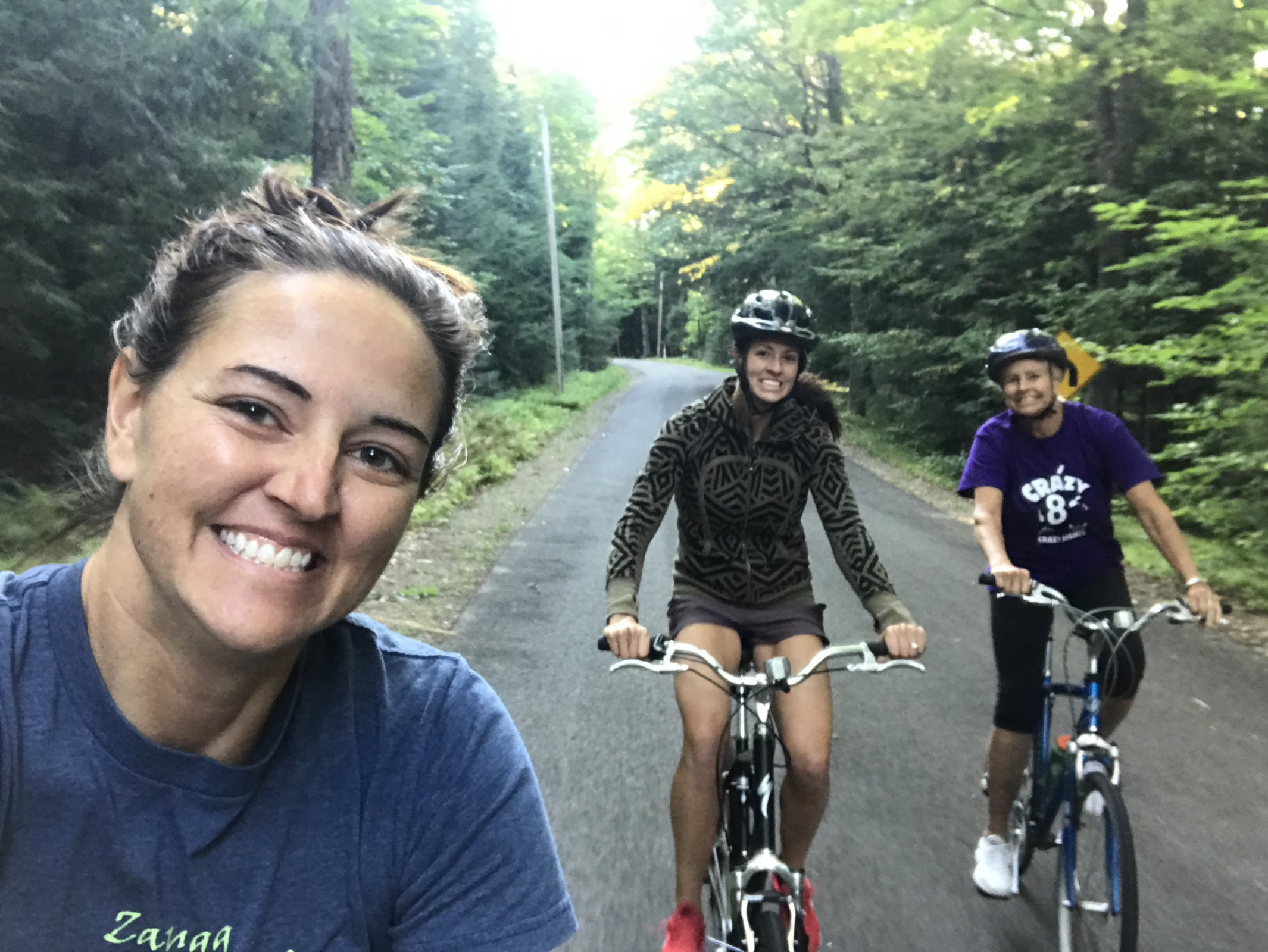 Girls know their Mom needs a bike ride!  We love our kids!