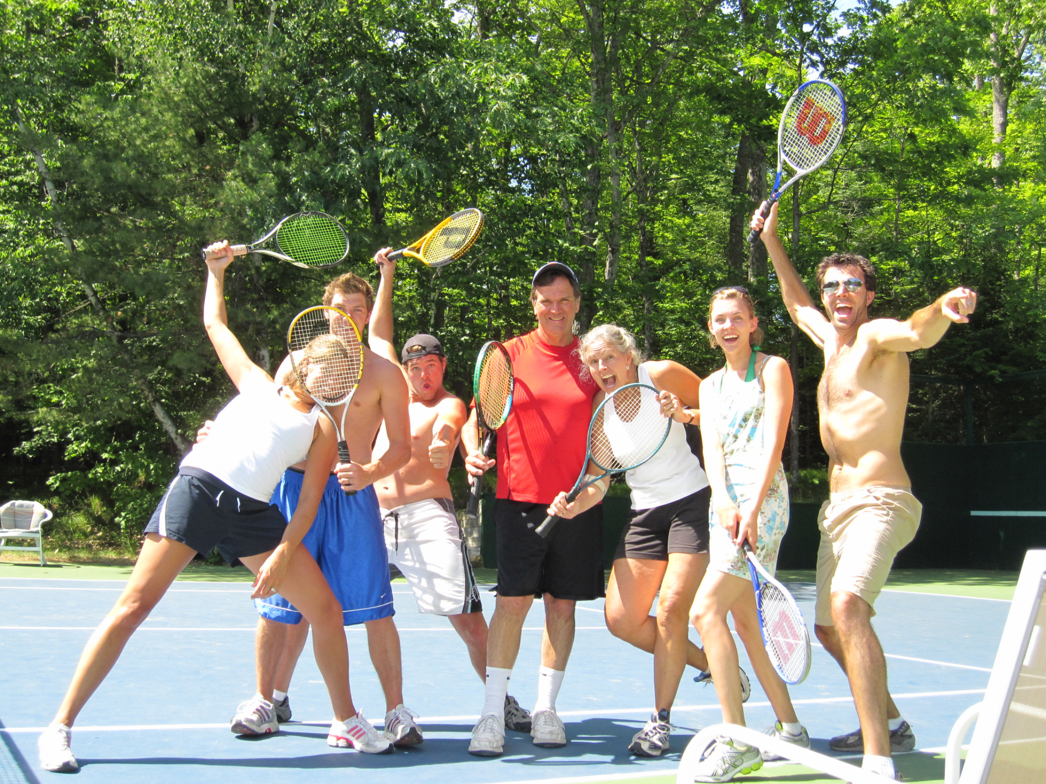 Family tennis competitions; family craziness and fun!!