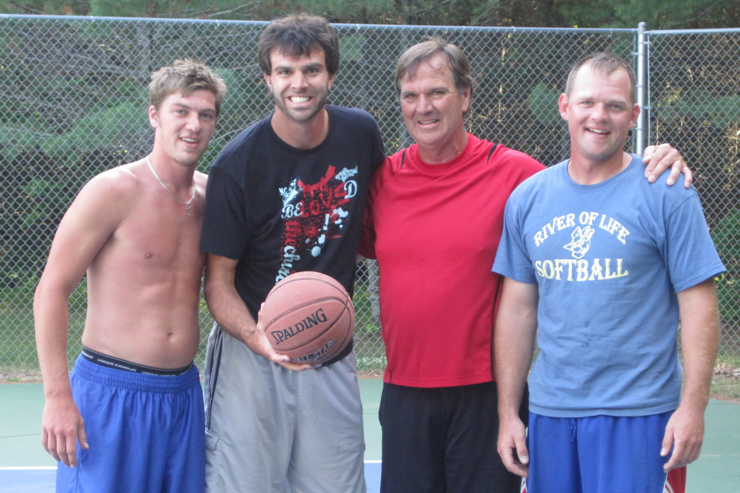 Basketball has been Chuck's first love & a friendly game with the boys always became competitive!