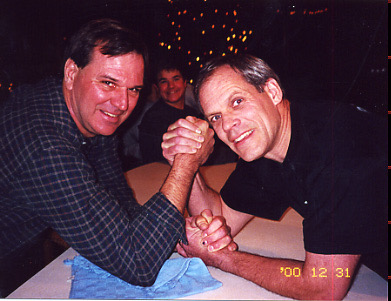 Our strong man Chuck with best friend Jack