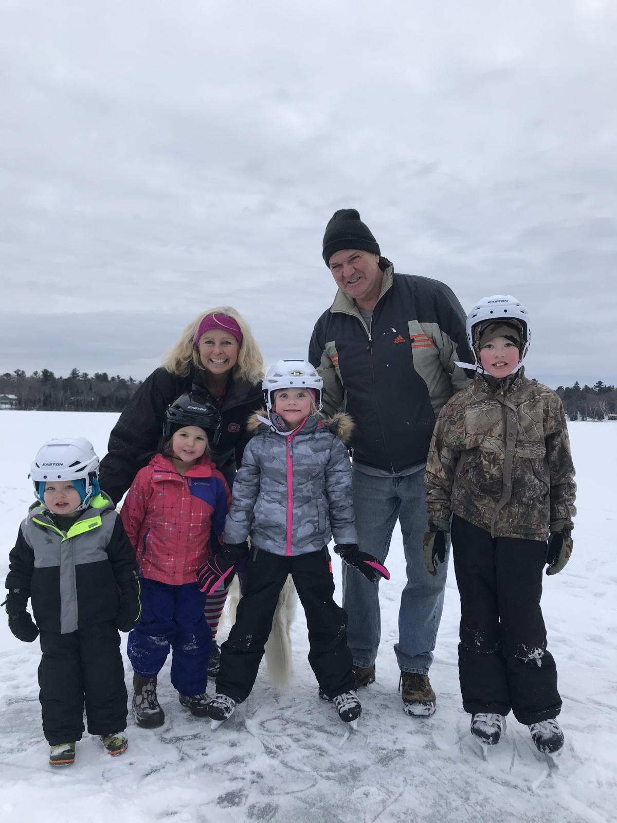 Last Christmas on the ice with grandkids
