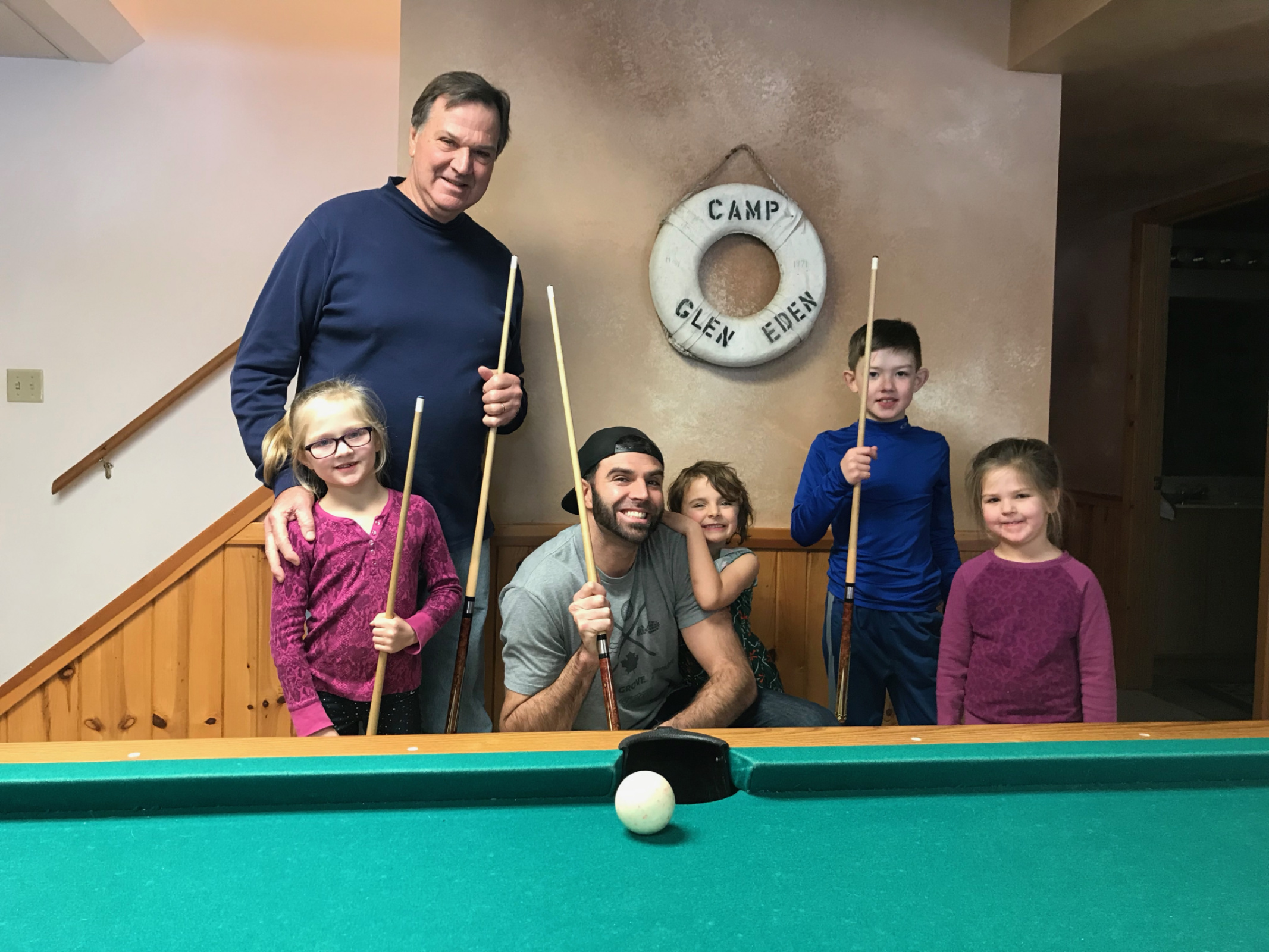 Friendly game of pool with grandkids 2018!