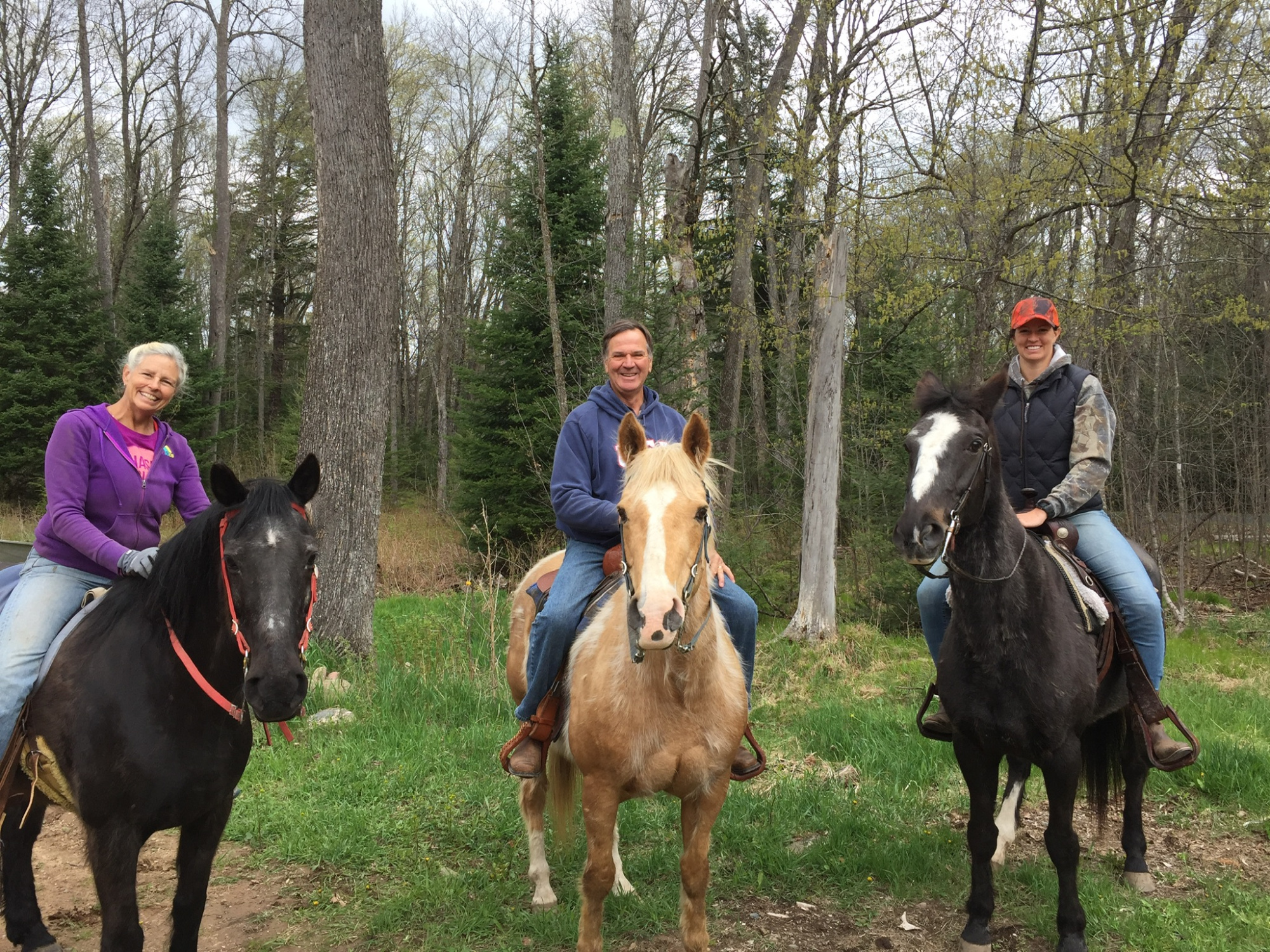 Horseback riding and exploring the BlackJack Wilderness on his horse Cheeko