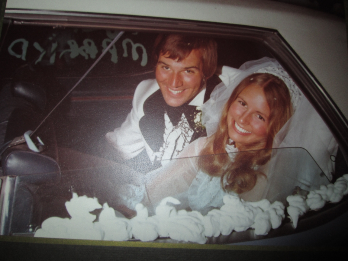44 years ago!  Celebrating our anniversary today...