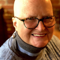 In honor of Breast Cancer Awareness Month here I am in all my bald glory.  Bald is beautiful y'all!