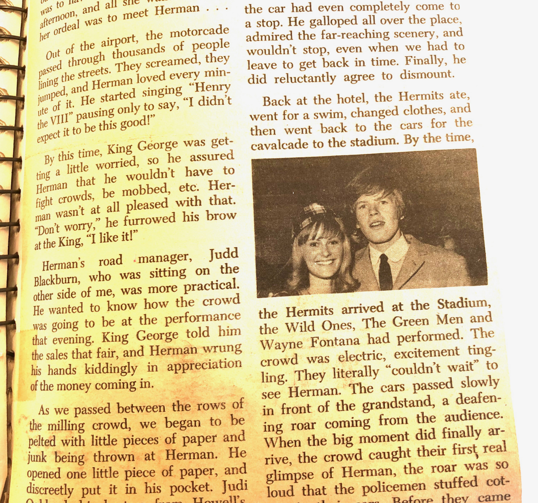 PAGE TWO of Herman's Hermits article
