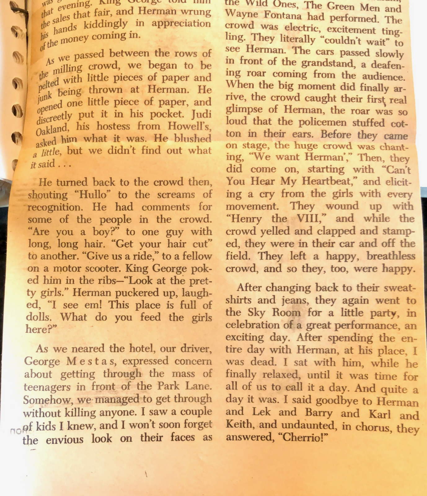 PAGE THREE of Herman's Hermits article