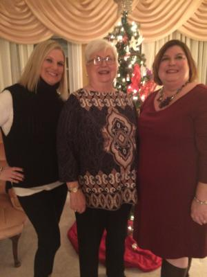 Moms 75th birthday - November 2015 with Caryll and Stacy