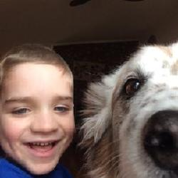 Selfie courtesy of Phineas; extreme close up photobomb by Loki. 03/05/14