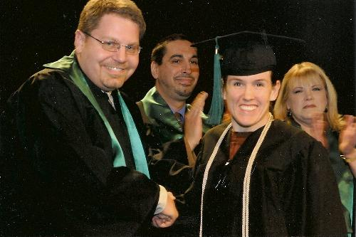 1/2010 Mandy graduates Rasmussen College with an Associates Degree in Accounting (3.99 GPA!!)