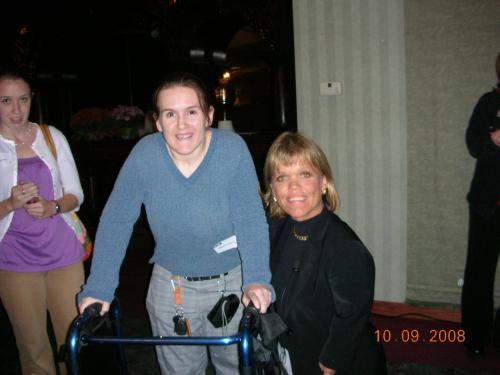 """10/2009 Mandy meets Amy Roloff at RAMP """"No Limits"""" Luncheon"""