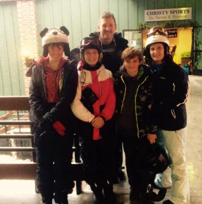 On slopes @Steamboat 19-26 Dec 2016 w Max, Celina , Kasi and Amy