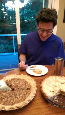 Dan and his pie!