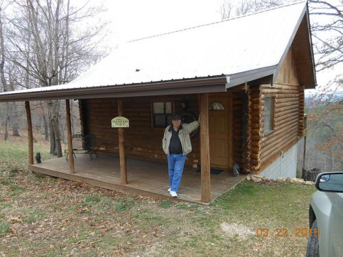At the Eureka Springs cabin, where Mom and Dad celebrated their 50th anniversary (March 2015)!