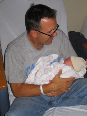 The day Violet was born. Go Tar Heels.