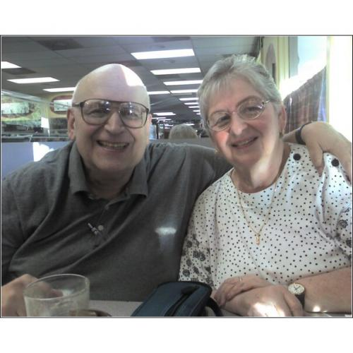 Rolly and Sharon in October 2007 at DZ Akins Deli