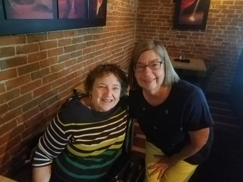 My first outing since coming home was to see my ortho surgeon and out to lunch at a restaurant! Thank you to Pat who encouraged me that we could go out to lunch. It really did me a lot to see I could go out! I am blessed with many good friends who have pushed me into recovery!