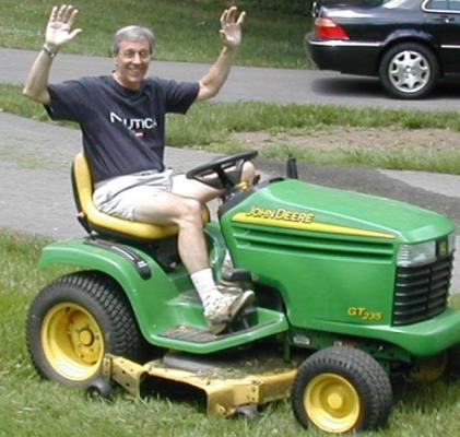 The pure joy of a riding lawnmower