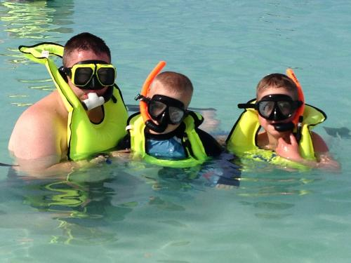 We went snorkeling at Castaway Cay....Disney's private island. Absolutely beautiful!
